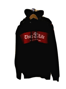 THUG LIFE  Broon Hoody Black/Red
