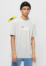 FILA - Richard Velvet Tee B13 light grey melange bros