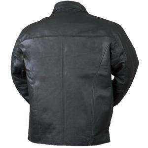Bullet Blocker Bulletproof Leather Jacket