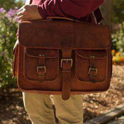 Leather Carryall Bulletproof Briefcase-Bullet Blocker-worn-kincorner.com