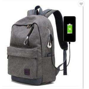 Bulletproof Backpack NIJ IIIA Canvas Classic-gray side