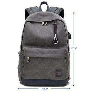 Bulletproof Backpack NIJ IIIA Canvas Classic-gray front