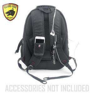 Guard Dog ProShield II Multimedia Bulletproof Backpack - Black-backside-kincorner.com