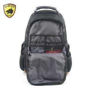 Guard Dog ProShield II Multimedia Bulletproof Backpack - Black-front open-kincorner.com