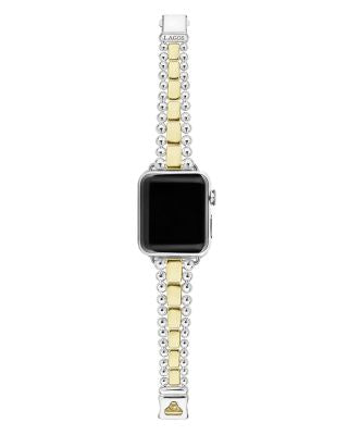 18K Yellow Gold & Sterling Silver Smart Caviar Apple™ Smartwatch - After Shopper