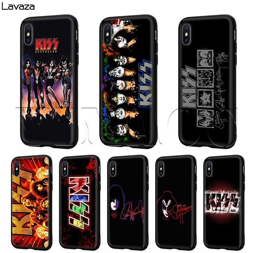 Lavaza Kiss band  Case for iPhone XS Max XR X 8 7 6 6S Plus 5 5s se - After Shopper