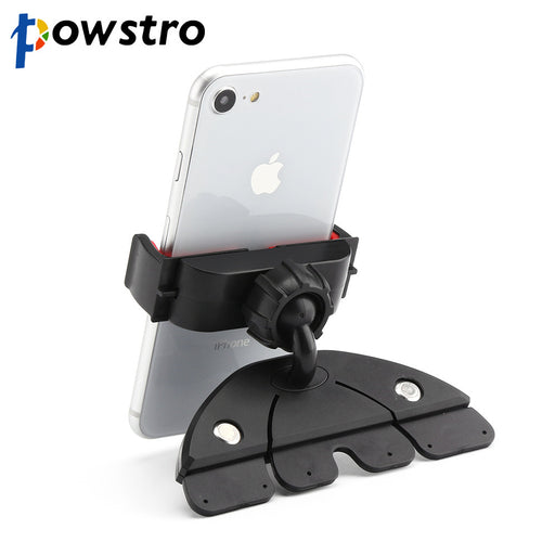 POWSTRO Handy CD Slot Car Mount Holder Stand Universal Car Phone Holder Universal for iPhone 8 7 6 Samsung Smart Phone GPS - After Shopper