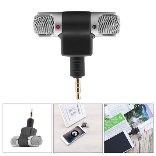 FORNORM Mini Recording Microphone Portable With 3.5mm Digital Stereo Mic Recorder for Computer Smart Phone Singing Software - After Shopper