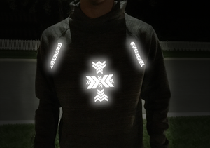 Be seen between dusk and dawn with highly reflective iron-on decals from noktillu. Easy to apply and customizable. Created for hikers, bikers, commuters and people of all ages and activity levels wanting to enjoy the outdoors.