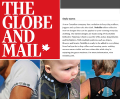 Globe and Mail Reflective Iron on Decals