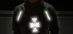 Chevrons - Noktillu - Reflective Design - High Visibility. Ensuring high visibility at night, dusk, and dawn. Customizable on most fabric and gear you use outdoors.