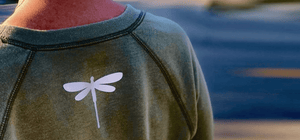 Dragonfly - Noktillu - Reflective Design - High Visibility. Ensure to be seen at night, dusk, and dawn. Fully customizable for fabric and accessories. For all kinds of outdoor lovers and activities.