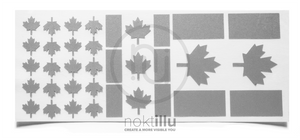 Canadian Flag Reflective Design - Noktillu