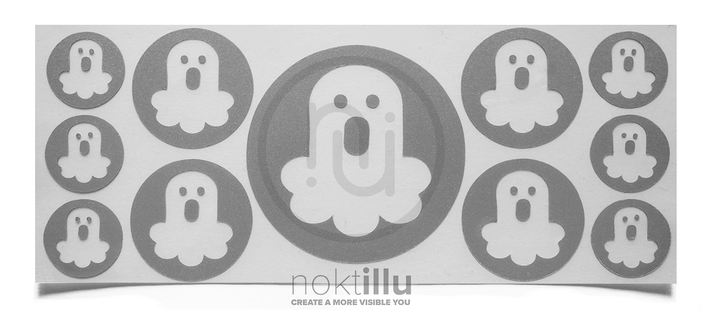 Ghosts - Noktillu - Reflective Design - High Visibility - 3M™ Scotchlite™ Reflective Material