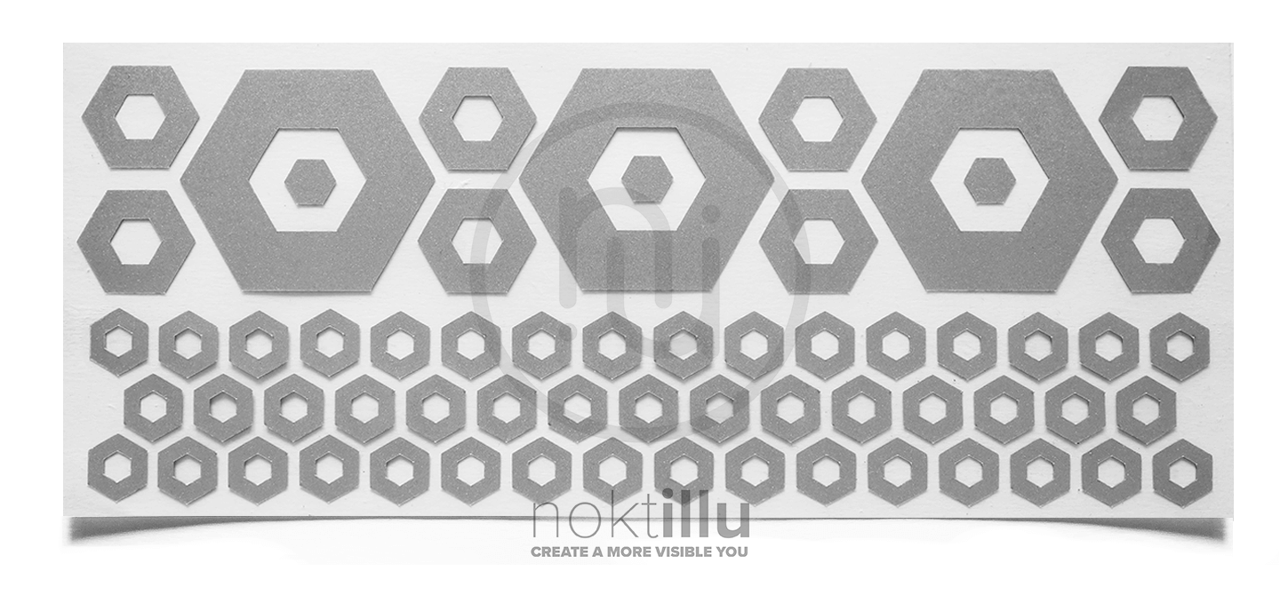 Hexagon - Noktillu - Reflective Design - High Visibility - 3M™ Scotchlite™ Reflective Material
