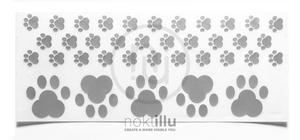Paw Print - Noktillu - Reflective Decal - High Visibility - 3M™ Scotchlite™ Reflective Material