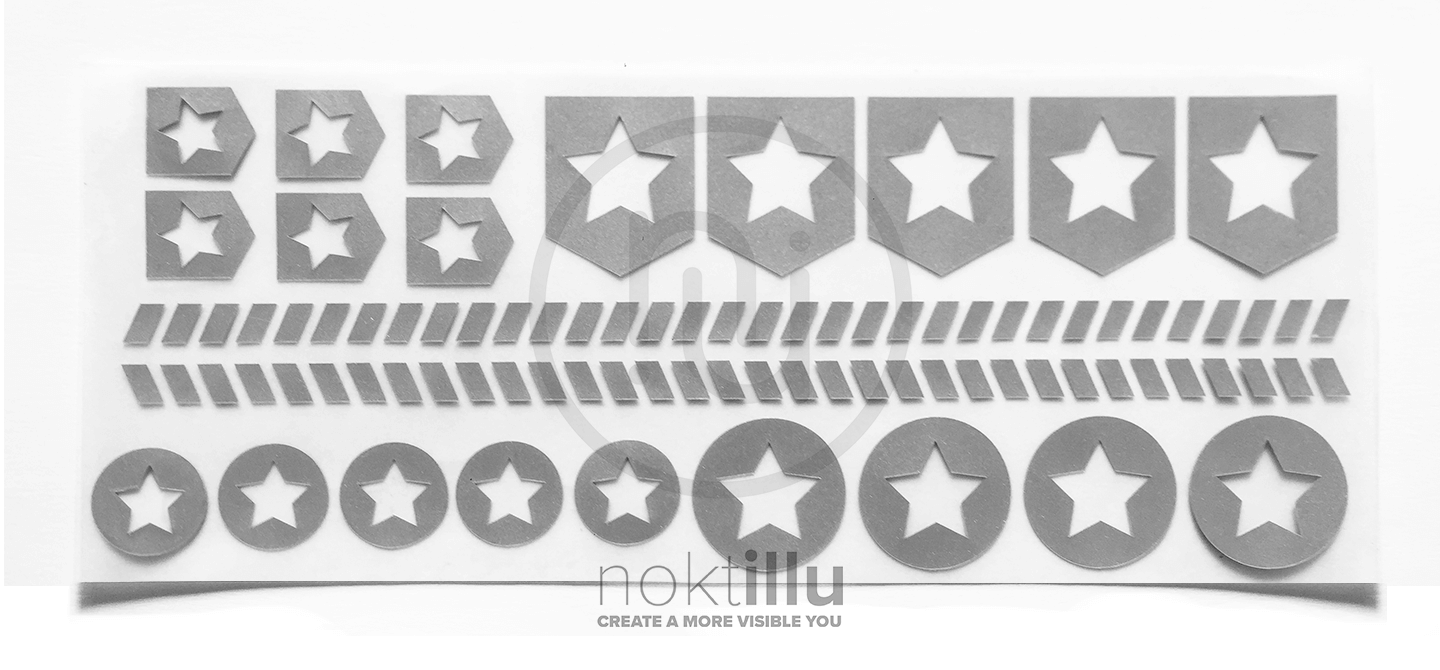 Stars and Stripes - Noktillu - Reflective Design - High Visibility - 3M™ Scotchlite™ Reflective Material