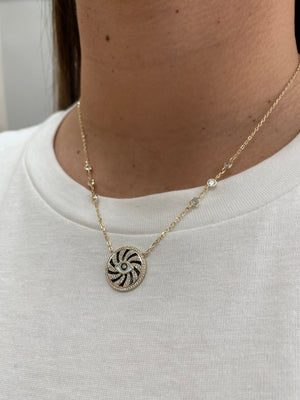 Eye Spiral Necklace