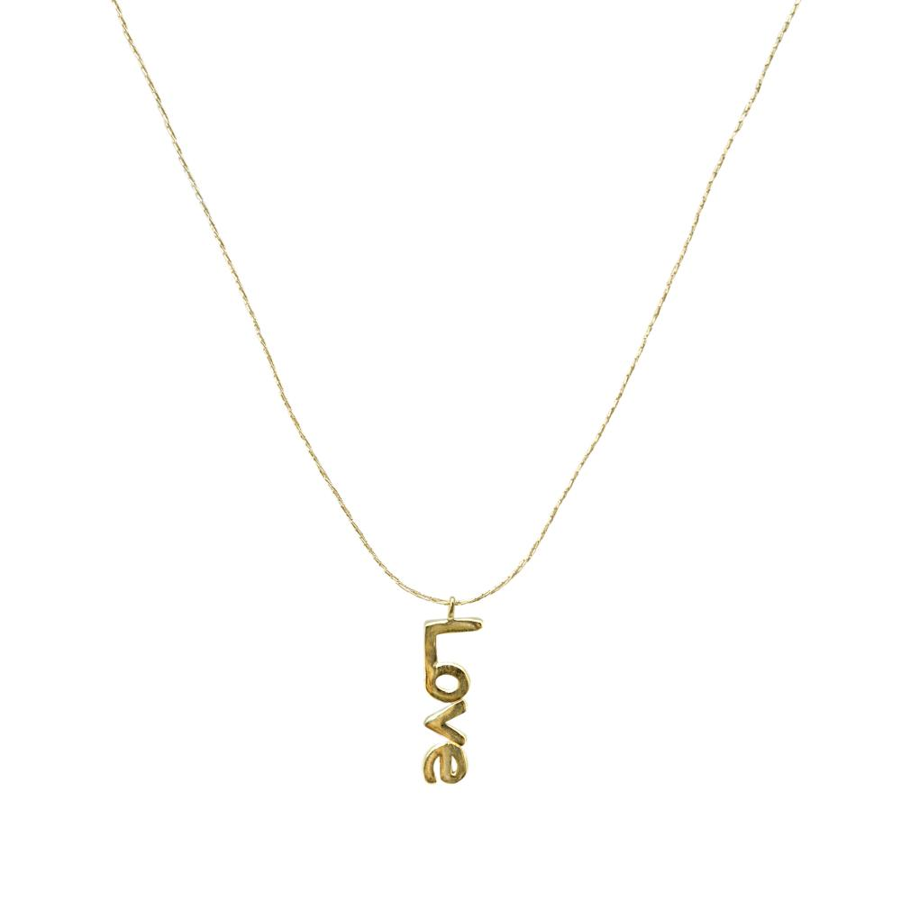 Gold String Necklace