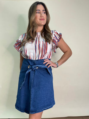 Load image into Gallery viewer, Asymetrical Denim Skirt