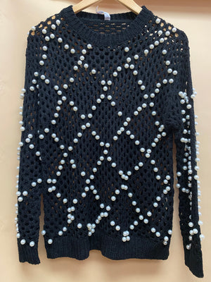 Load image into Gallery viewer, Pearls Mesh Sweater