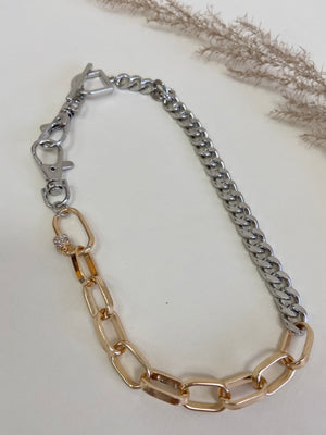 Two Tone Short Necklace