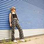 The Wrights Black Patterned Pants Size Size 10