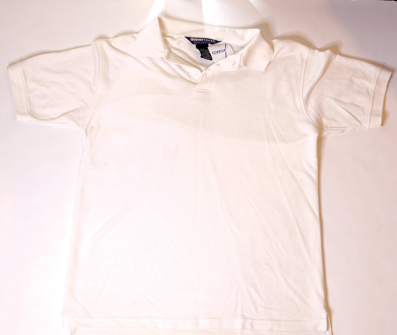 FRENCH TOAST| White Polo T-Shirt | Size XXL