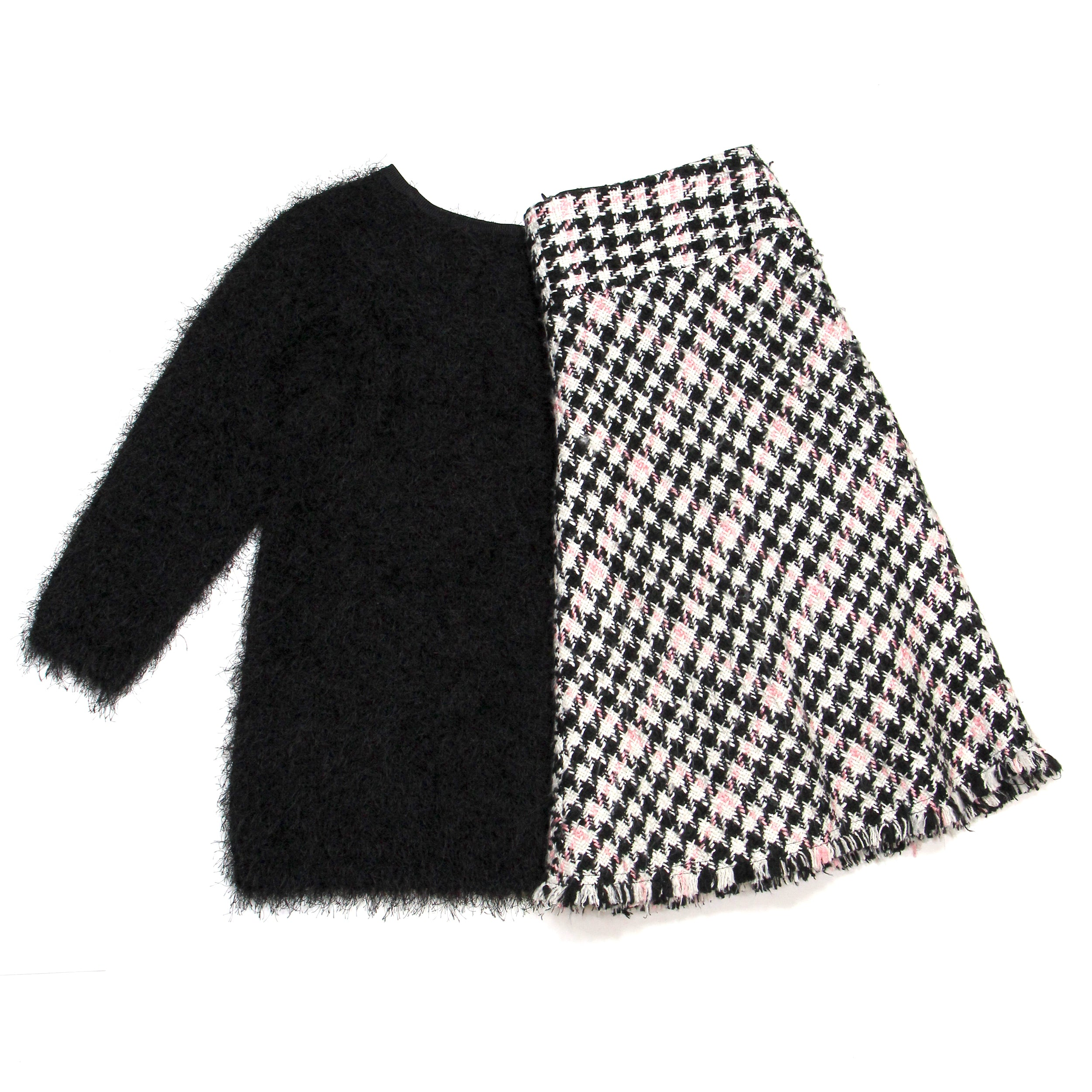 I.N.C Plaid Skirt Black and Pink Size 6