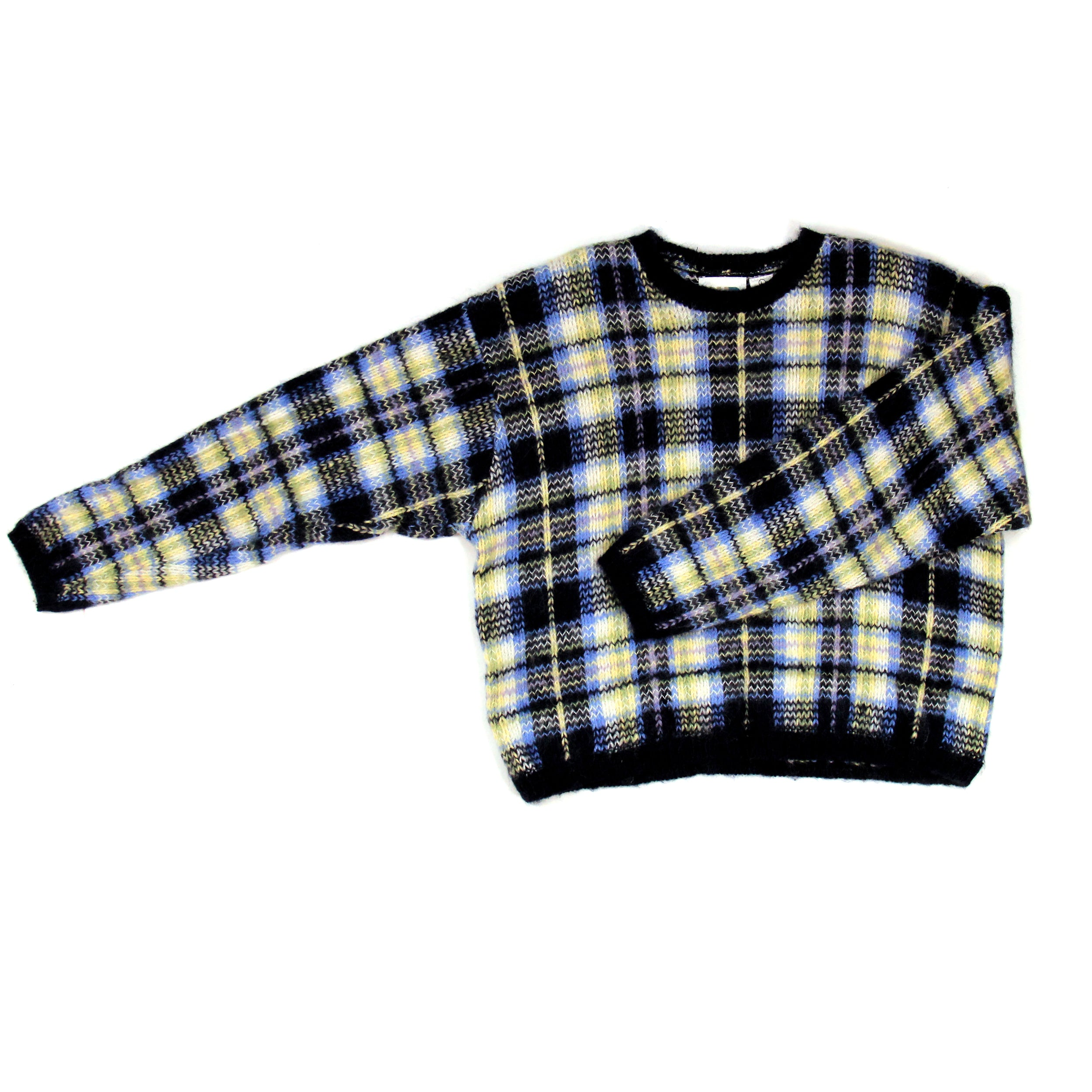 Paul Harris Design Checkered Sweater Size L