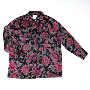 Avenue Black and Pink Shirt Size 18/20