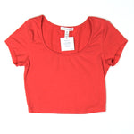 Ambiance Apparel Red/Pink Crop Top Size S