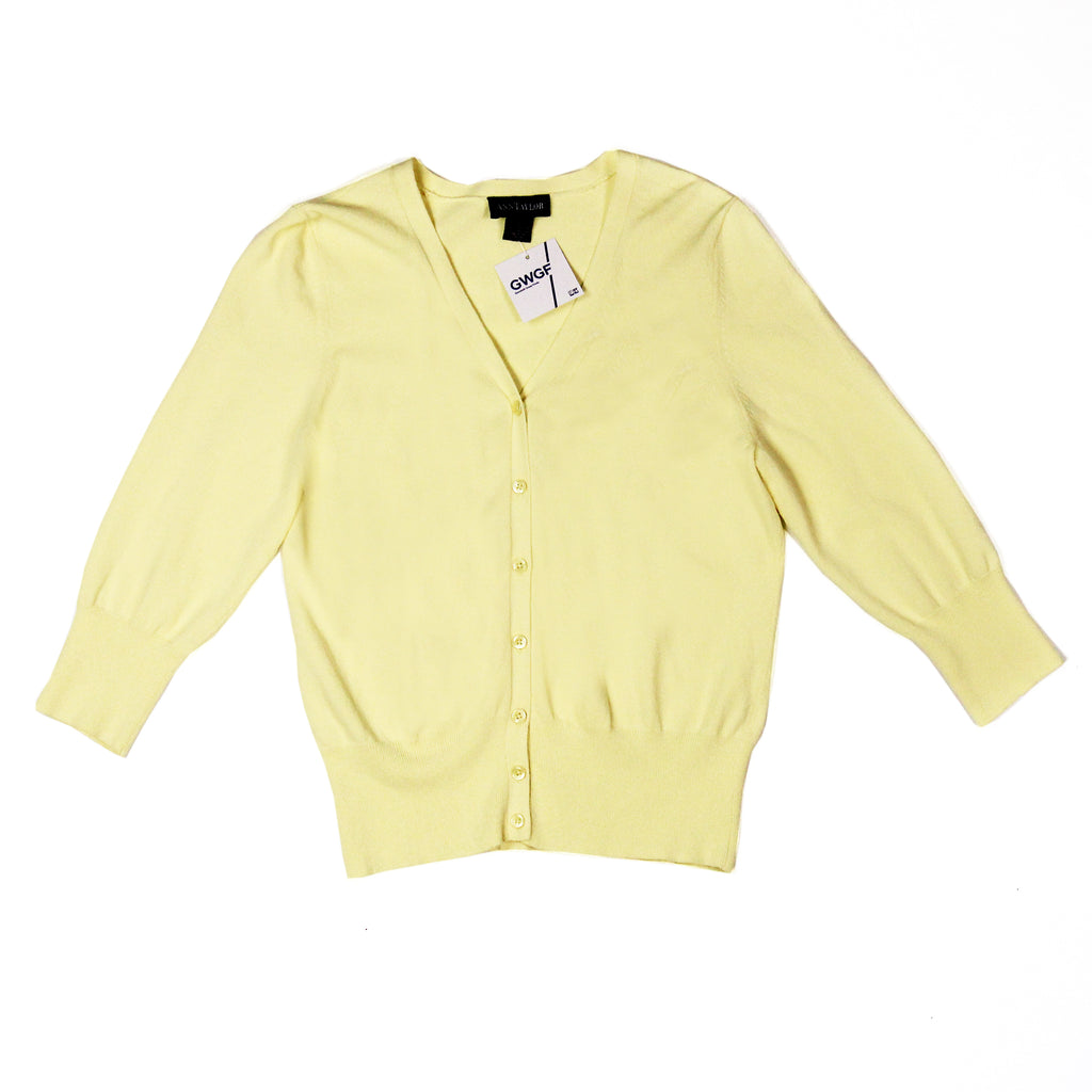 Ann Taylor Yellow Cardigan Size S