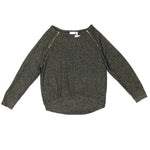 Bisou Bisou Black Sparkly Sweater Size L