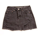 American Eagle Distressed Black Denim Skirt Size S
