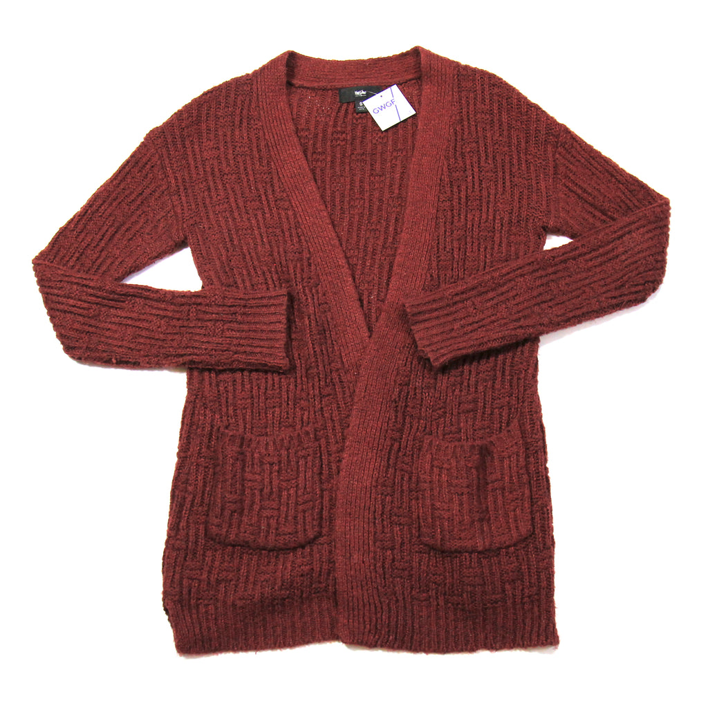 Mossimo Red Knitted Cardigan Size S
