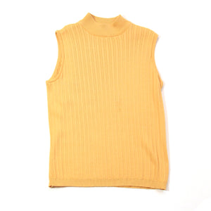 Charter Club Yellow Sleeveless Turtleneck Size M