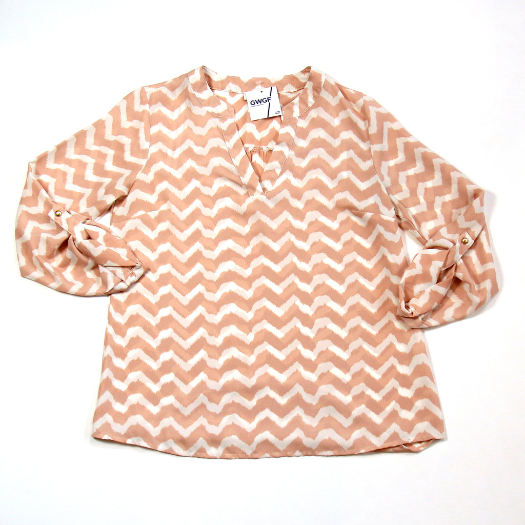 C Pink Blouse Size S