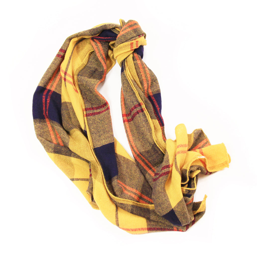 Yellow Plaided Scarf