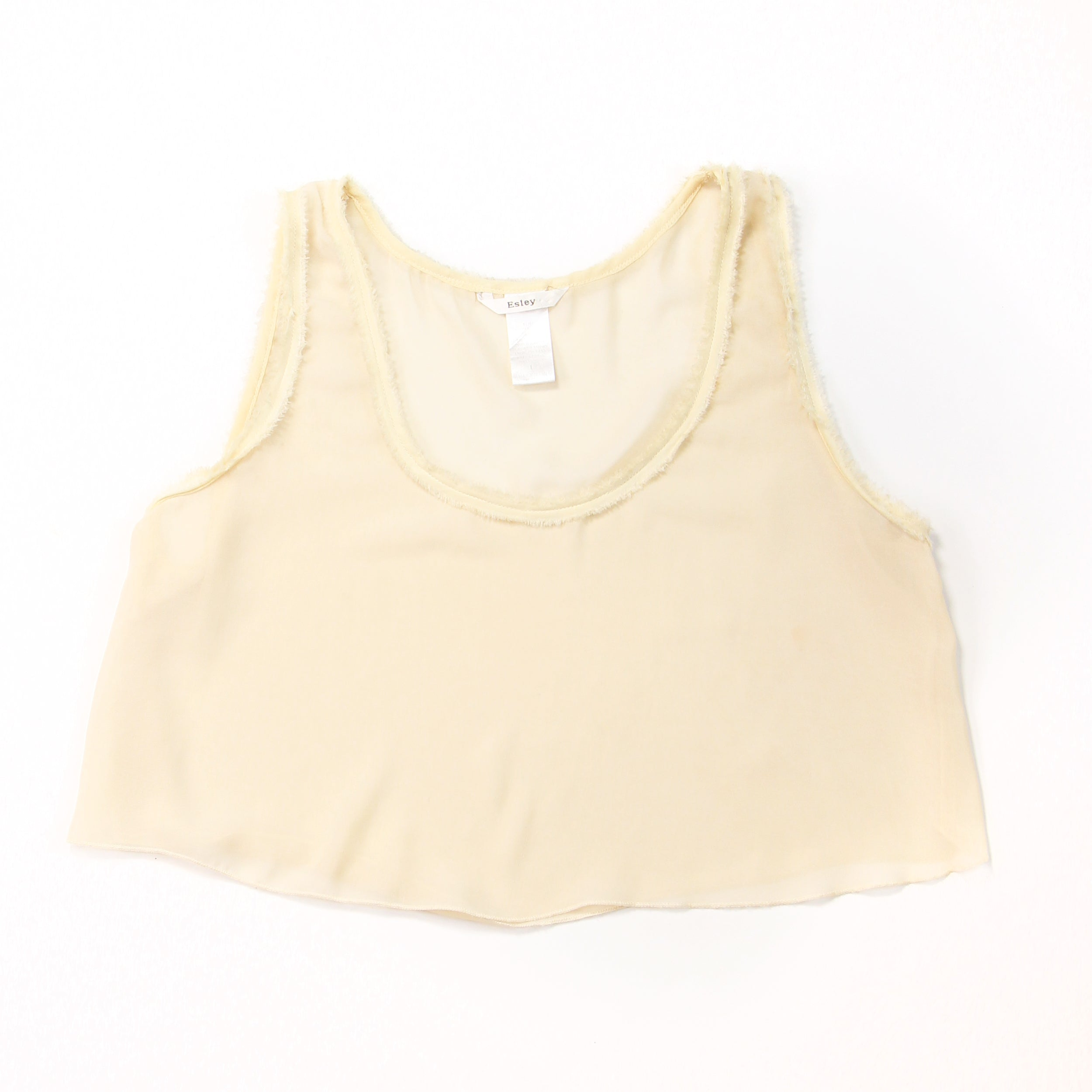 Elsey - White Sleeveless Blouse - L