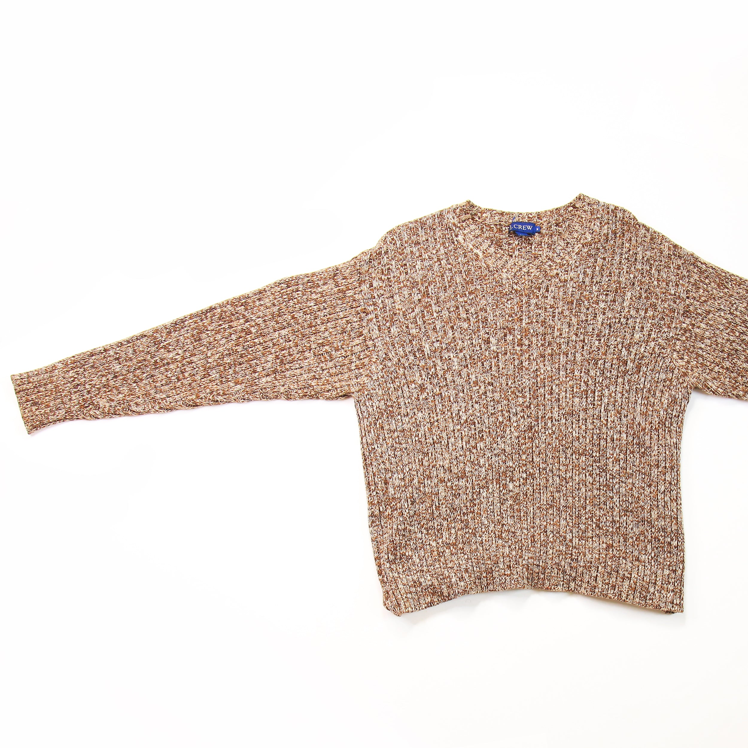 J. Crew Brown Knit Sweater Size M