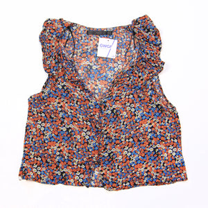 Zara - Sleeveless Floral Pattern Blouse - XS