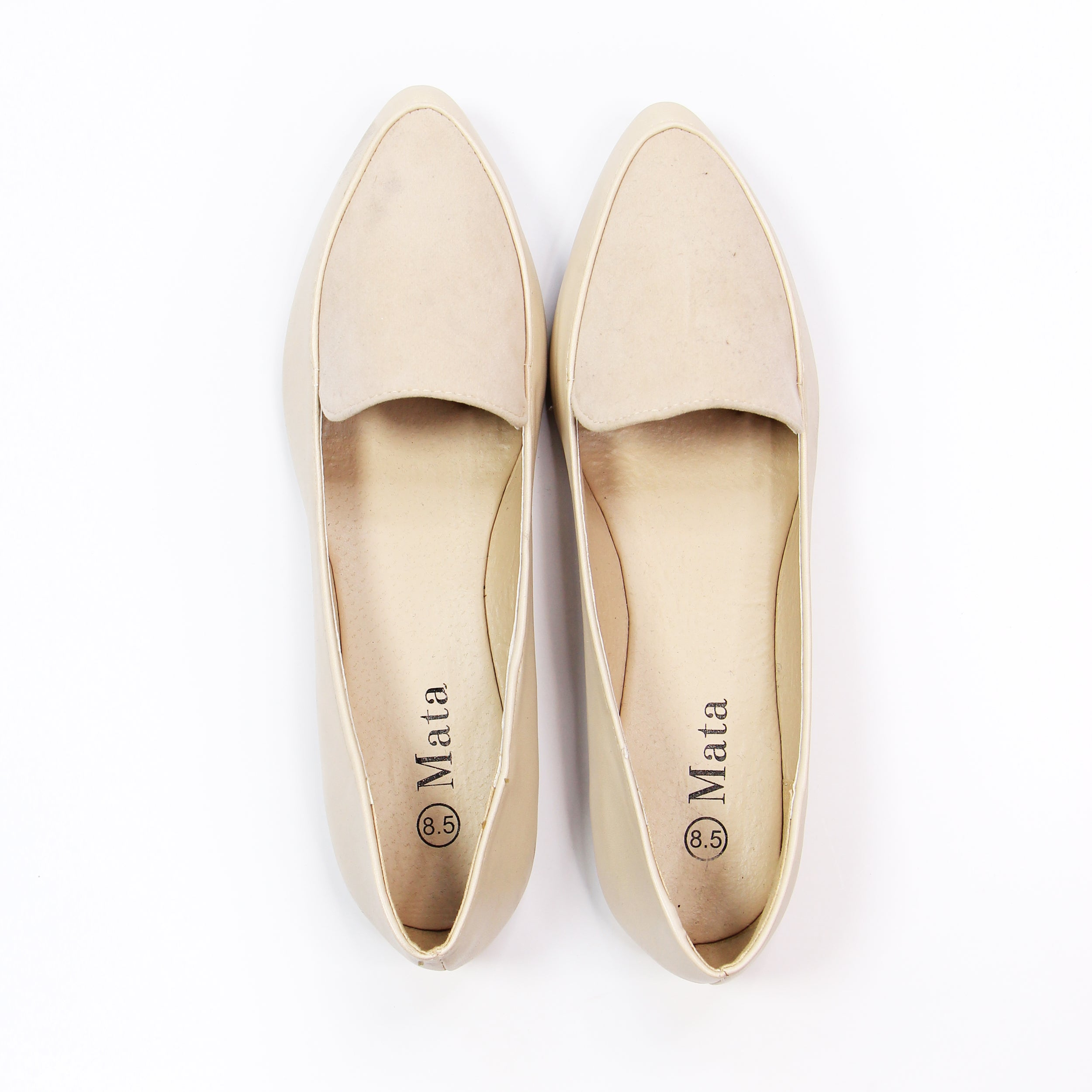 Mata - Cream Loafers - 8.5