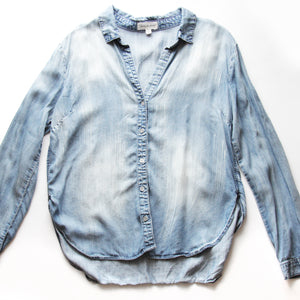 Cloth & Stone Blue Denim Long Sleeve Shirt Size L