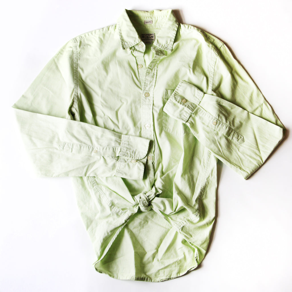 J. Crew Green Shirt Size S