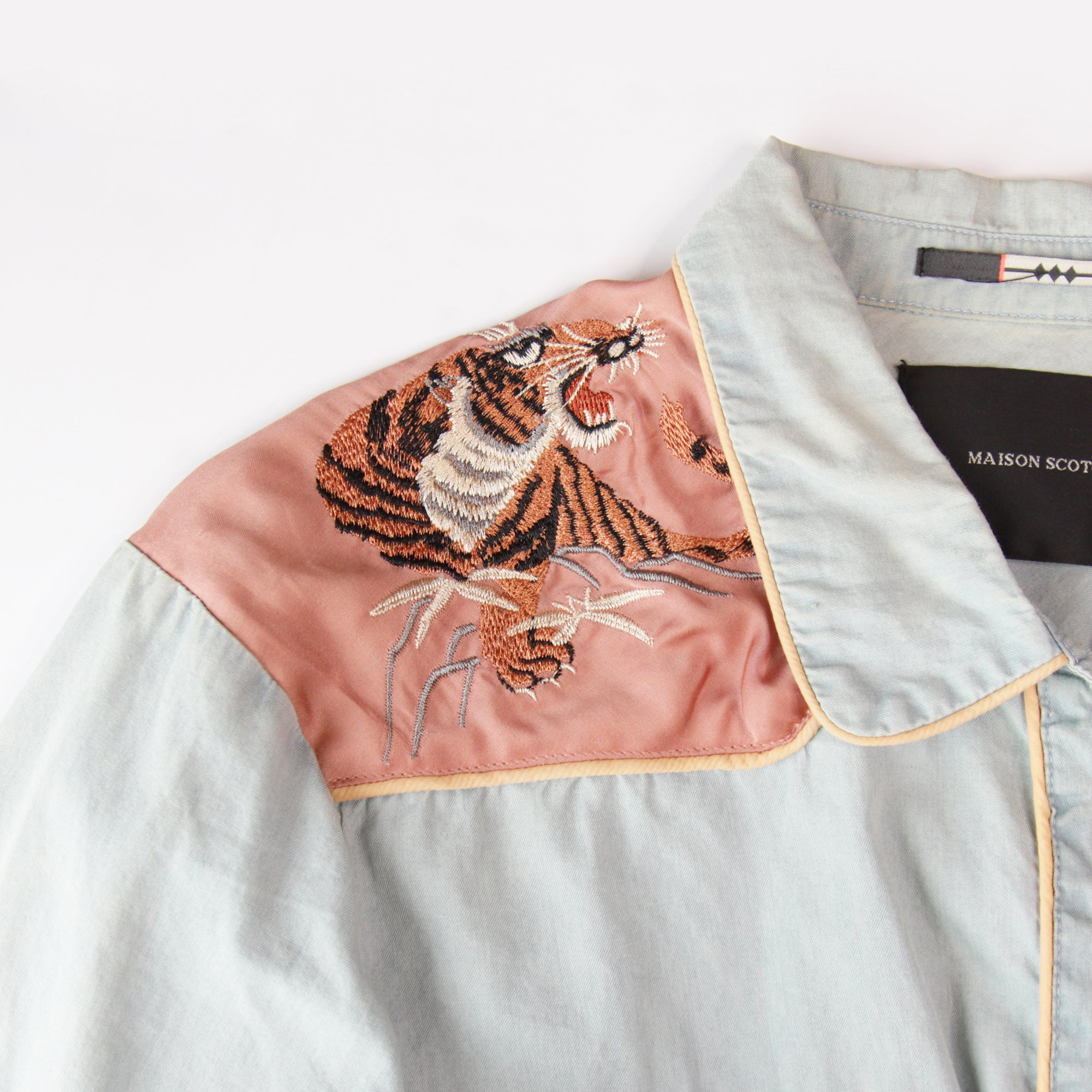 Maison Scotch Tiger Detail Shirt Size 4