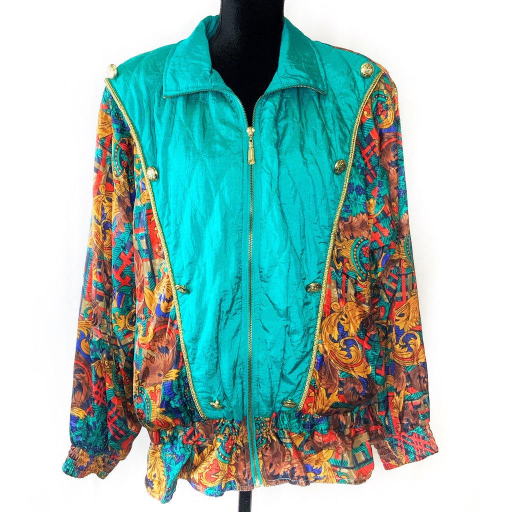 Lavon Green Patterned Jacket