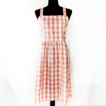 J. Cew Checkered Pink Dress Size L