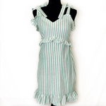 Boohoo Striped Shift Dress Size M