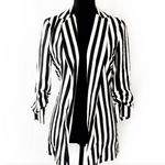 ASOS Black and White Striped Blazer Size S